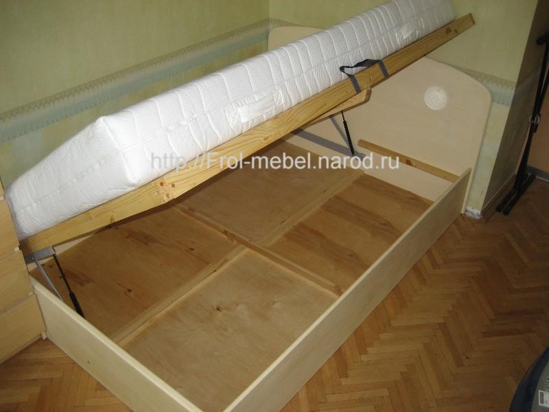 Короб для кровати с подъемным механизмом своими руками